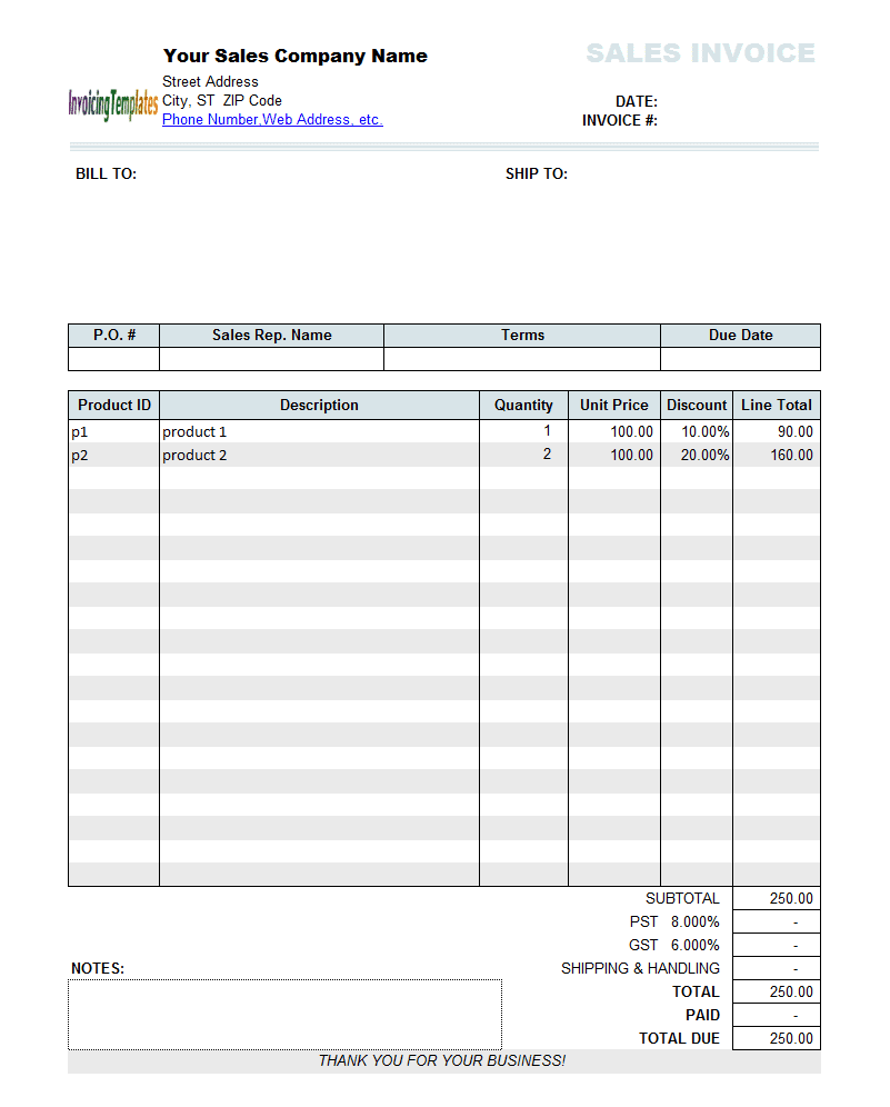Sample Invoice For Bookkeeping Services And Accounting Invoice Template