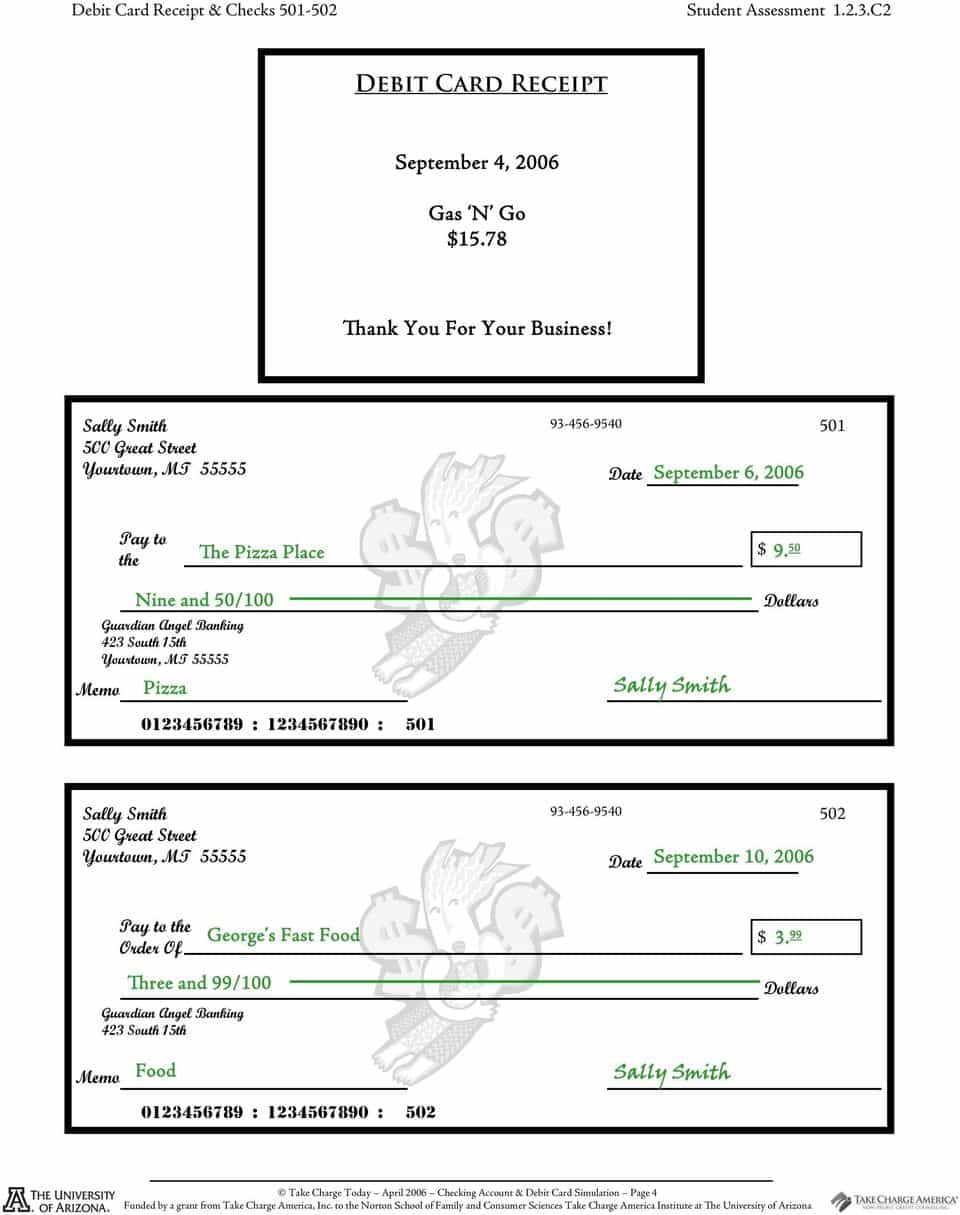 Checkbook worksheets for students free and check your checkbook skills worksheet