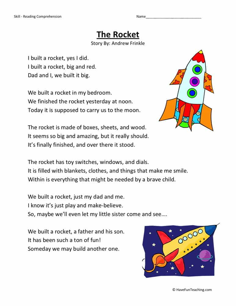 Comprehension passages for grade 1 and reading passages printables