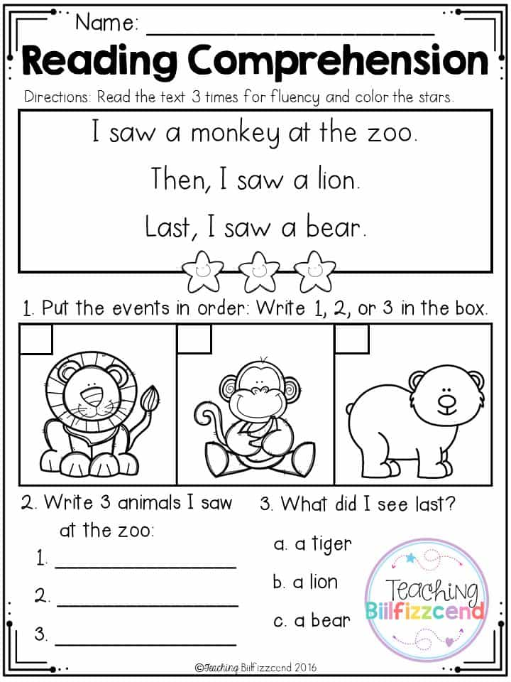 Free printable 2nd grade reading comprehension sheets and free 3rd grade reading worksheets