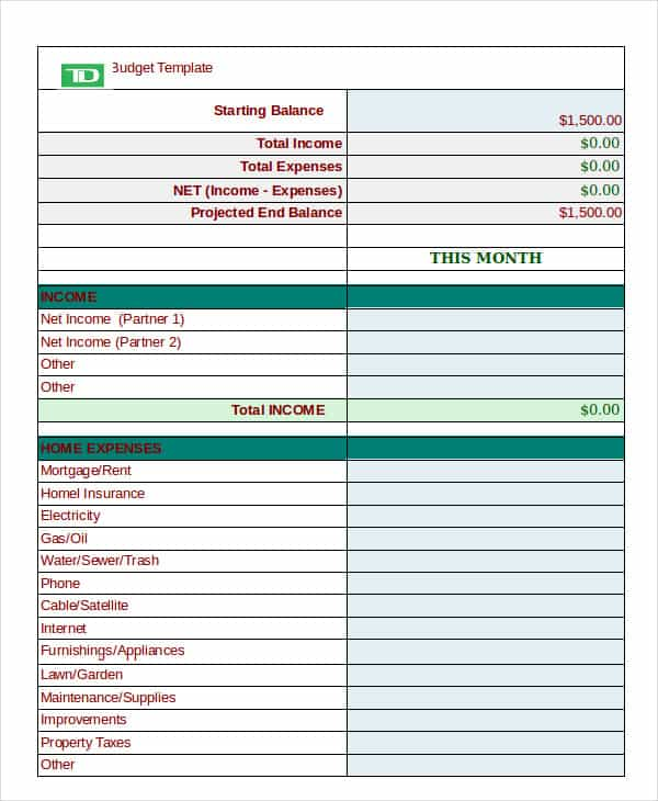 Personal financial budget worksheet and personal daily expense sheet excel