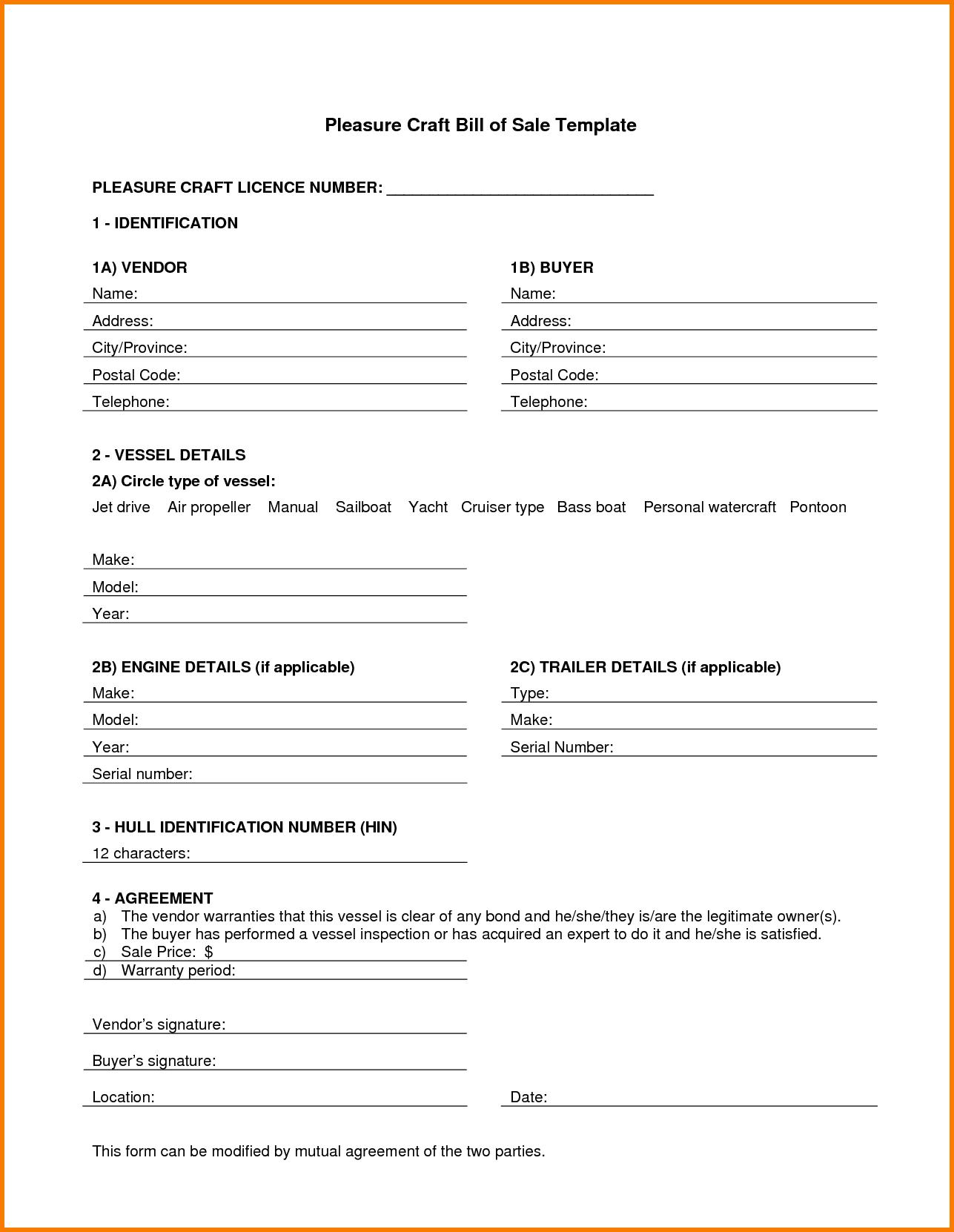 Auto Bill Of Sale Template Ri And Ri Bill Of Sale Requirements