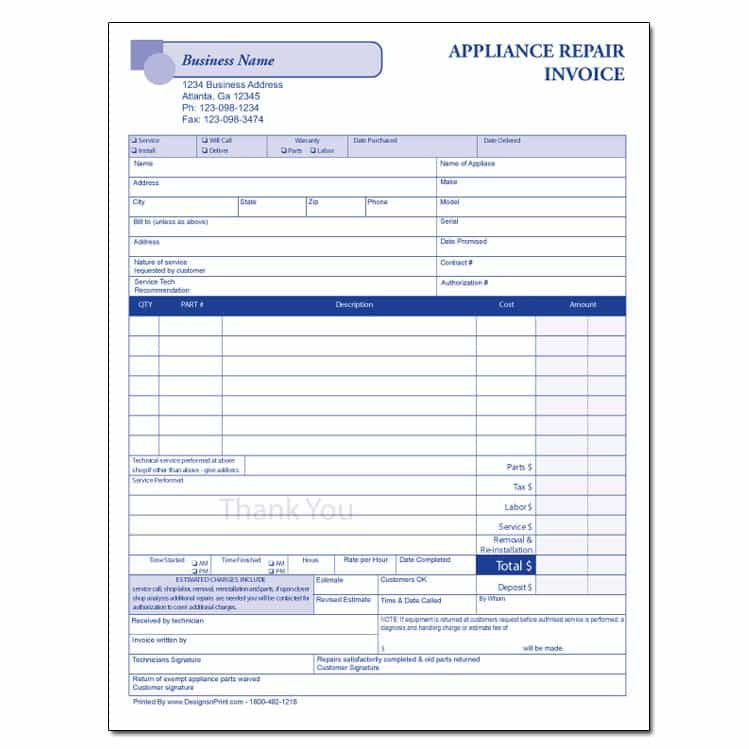 Free Invoice Template Excel And Blank Service Invoice Template Free