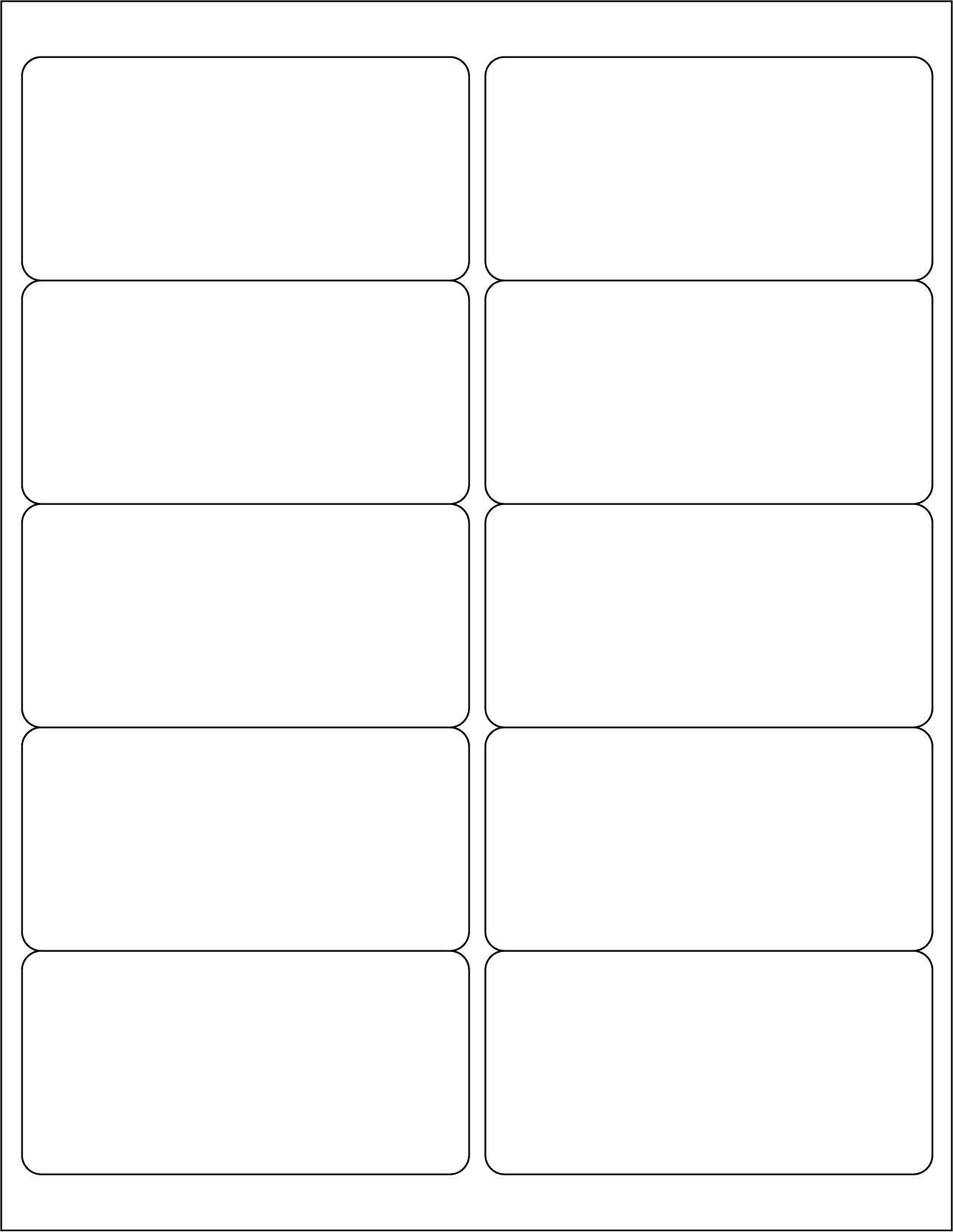 Label Template Word And Avery 6 Per Sheet Template