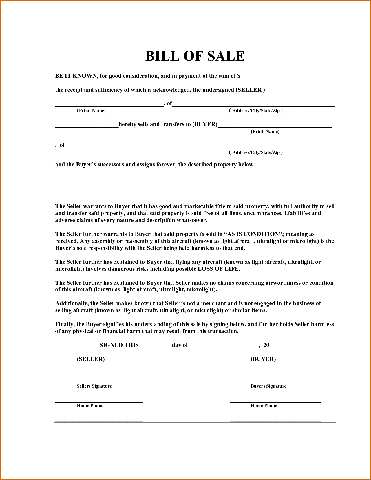 Ms word bill of sale for car template and free vehicle bill of sale