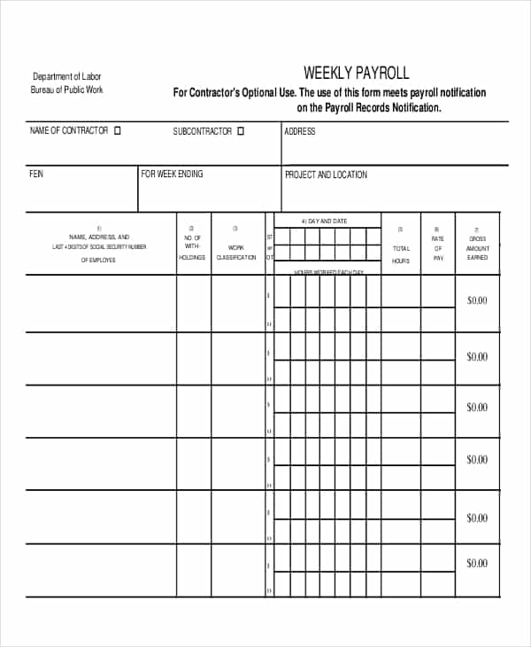 Payroll Excel Sheet Sample Download And Payroll Template Pdf
