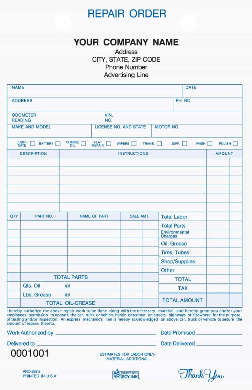 Auto Body Shop Estimate Template And Free Auto Body Estimate Template Excel