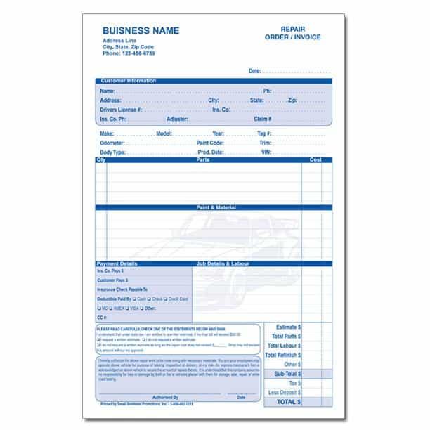 Auto Repair Estimate Template Word And Auto Body Repair Quotes
