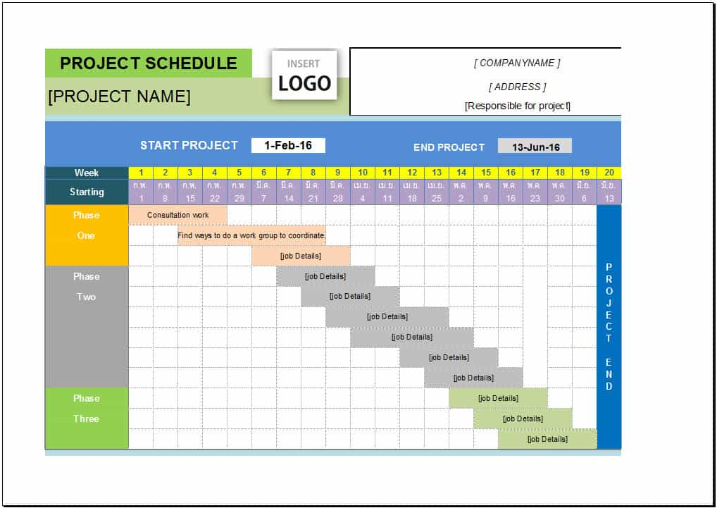 Project Management Dashboard Excel And Project Management Schedule Template