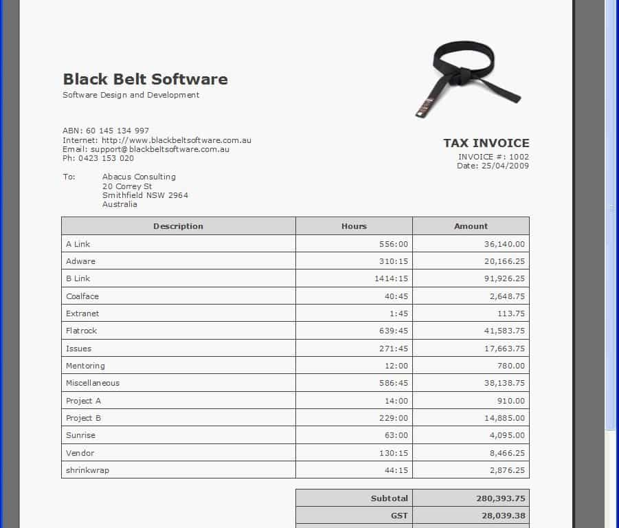 Make A Utility Bill Online And Invoice Format