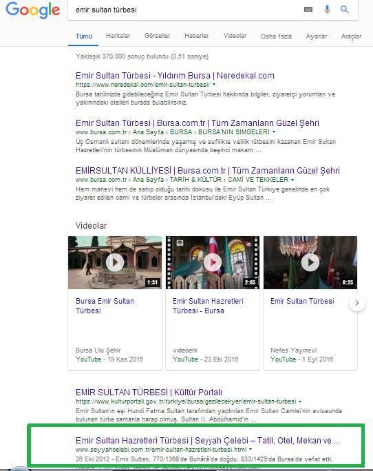 Anahtar Kelime Google Sıralama Durumu