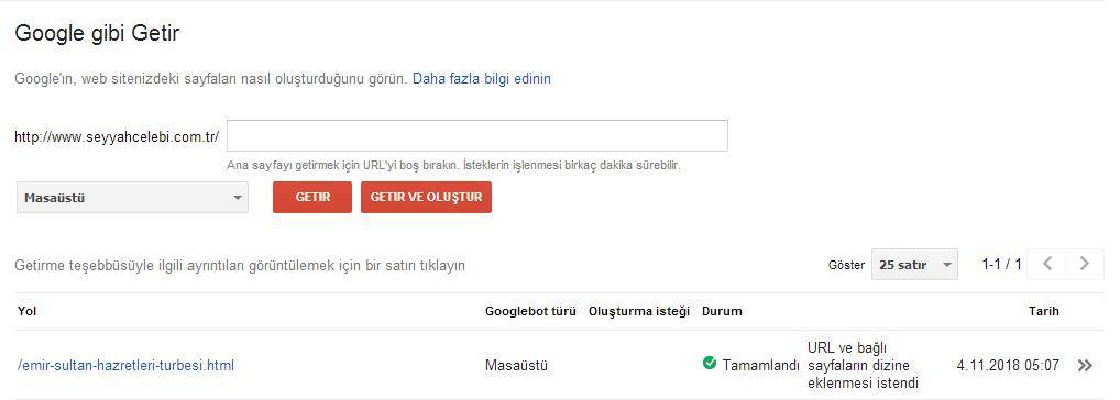 Güncellenen Yazının Google Gibi Getir İşlemi