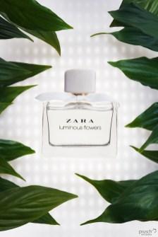 ZARA perfum ijęcie z liśćmi