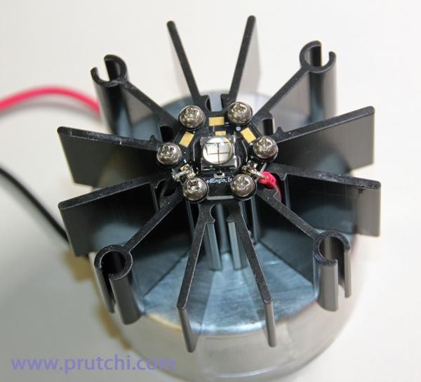 Mounting LED for diy high-power UVIR / Visible flashlight by David Prutchi PhD www.prutchi.com www.diyPhysics.com