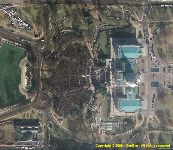 Capitol Hill during the Inauguration (a GeoEye-1 Satellite image)