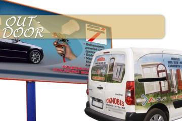 reklama zewnetrzna oklejanie samochodow