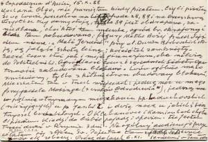 List ks. Tadeusza Fedorowicza do siostry Olgi Fedorowicz, 15.10.1988