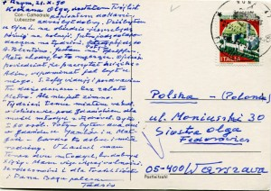 List ks. Tadeusza Fedorowicza do siostry Olgi Fedorowicz, 28.10.1990