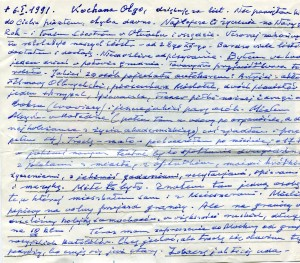 List ks. Tadeusza Fedorowicza do siostry Olgi Fedorowicz, 6.01.1991