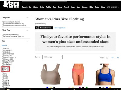 rei-coop plus-size clothing