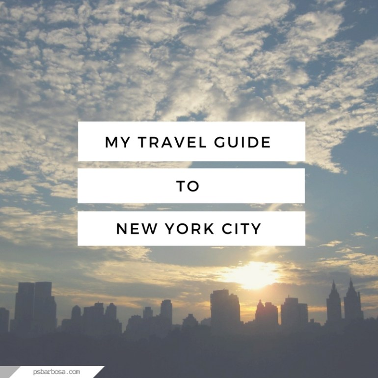 My Travel Guide To New York City
