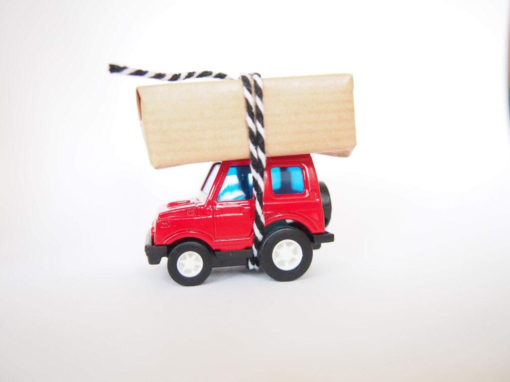 auto traktatie van een peuter