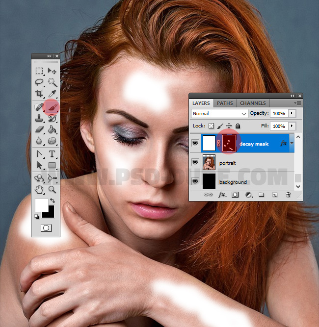 paint in layer mask in photoshop
