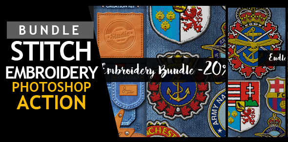 Embroidery and Stitching Photoshop Creation Kit - 8