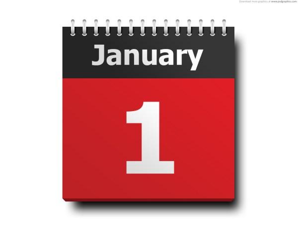 January 1, calendar icon | PSDGraphics