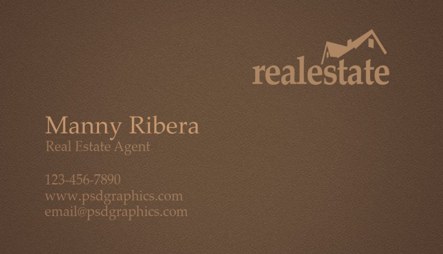 Real estate business card   PSDGraphics Real estate business card back