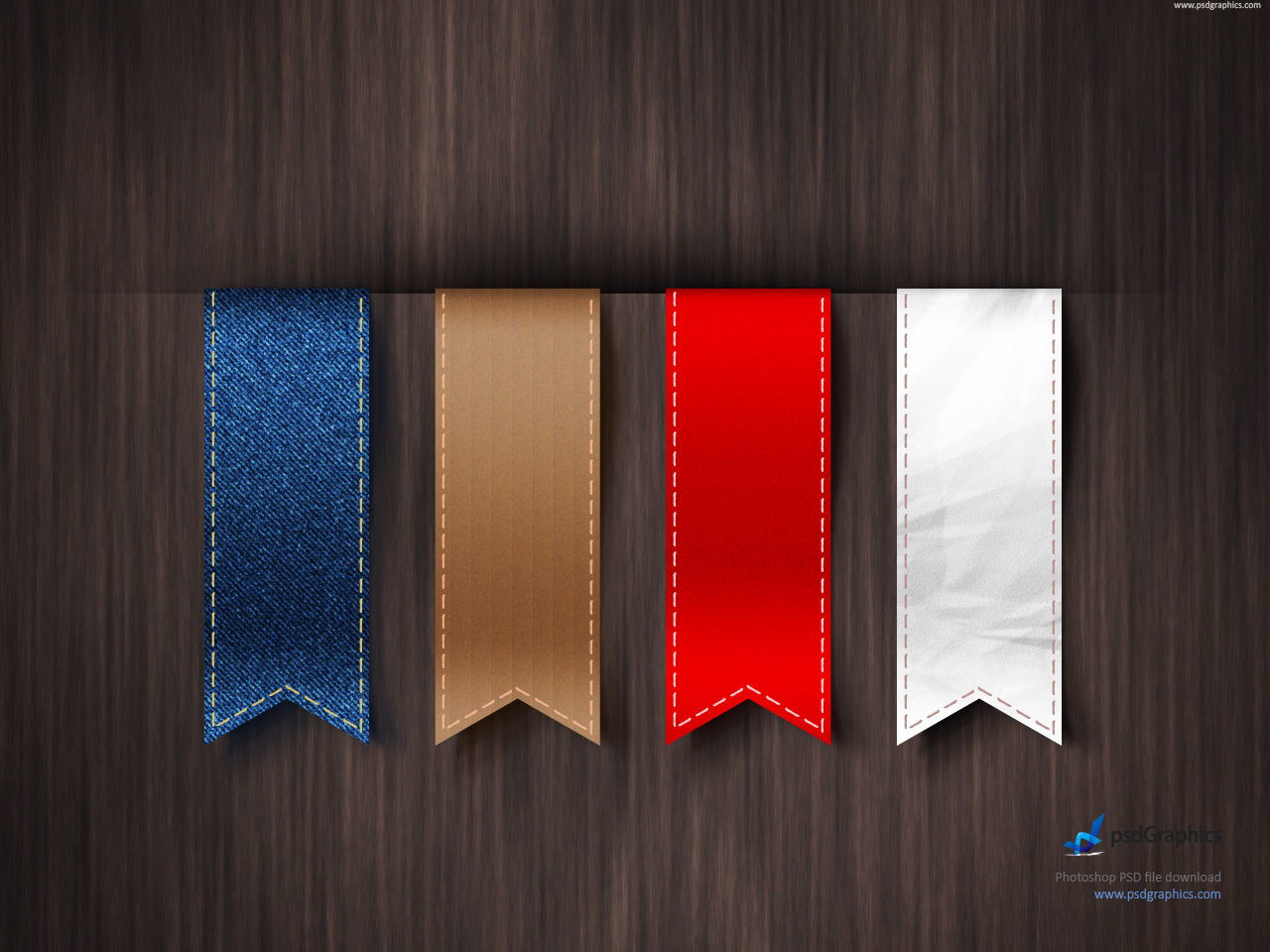 Vertical Ribbons Template PSD PSDGraphics