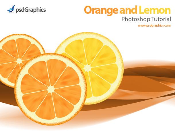 orange and lemon in photoshop