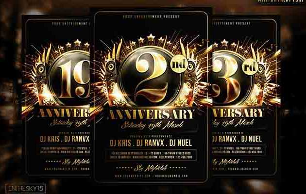 Anniversary Flyer Template By In TheSky15 Premium Files Free Download 1