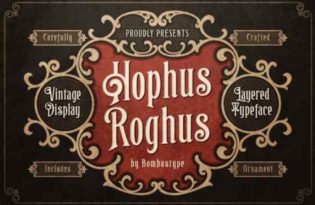 Hophus Roghus Display Font Free Download8