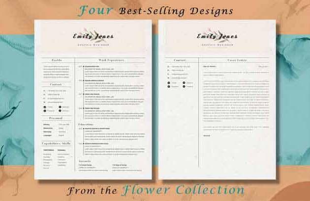 Resume CV Flower Bundle ByShowy68 Template Free Download