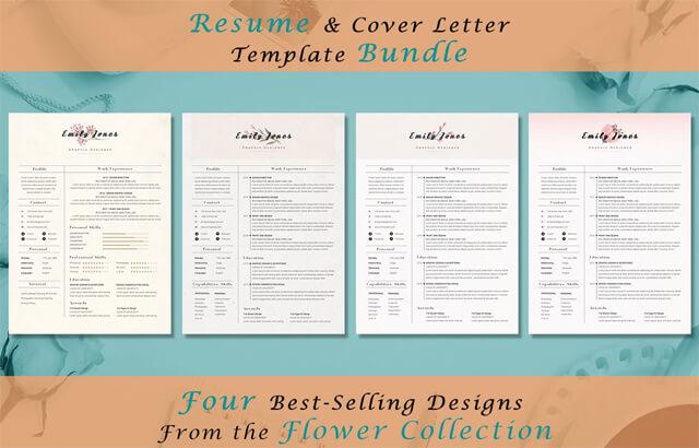 Resume-CV-Flower-Bundle-ByShowy68-Template-Free-Download