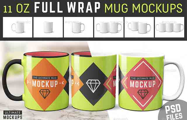 Coffee Mug Mockup 11 Oz Sublimation Cup FreeDownload