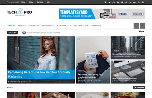 Tech Pro News Magazine Blogger Template