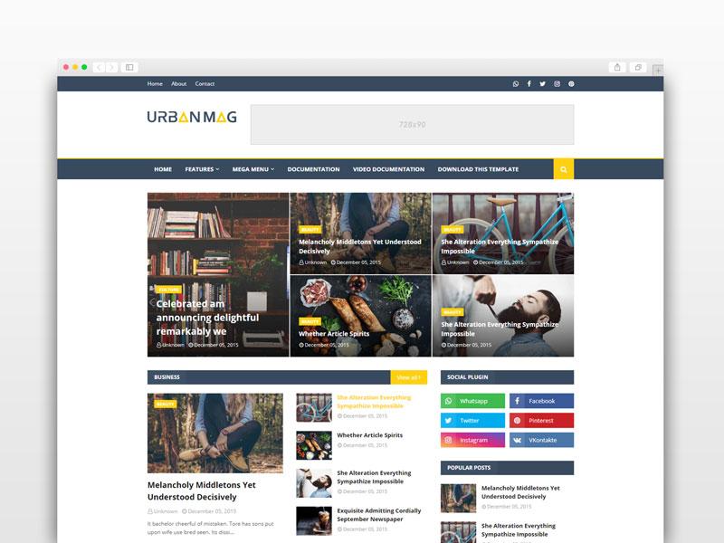 Urban Mag Blogger Template Premium
