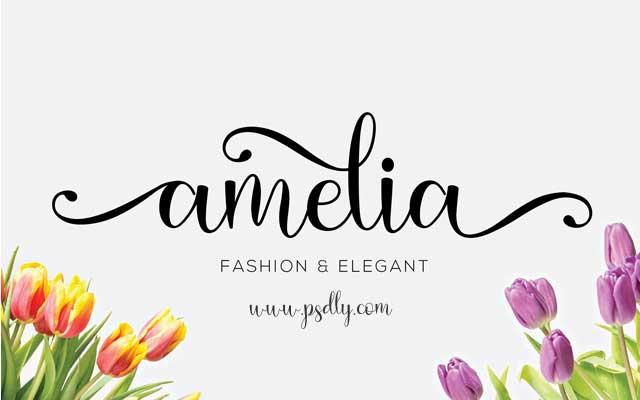 Amelia Calligraphy Font