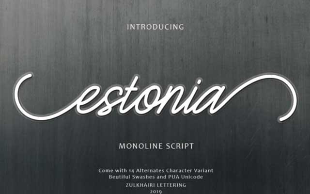 Estonia Calligraphy Font