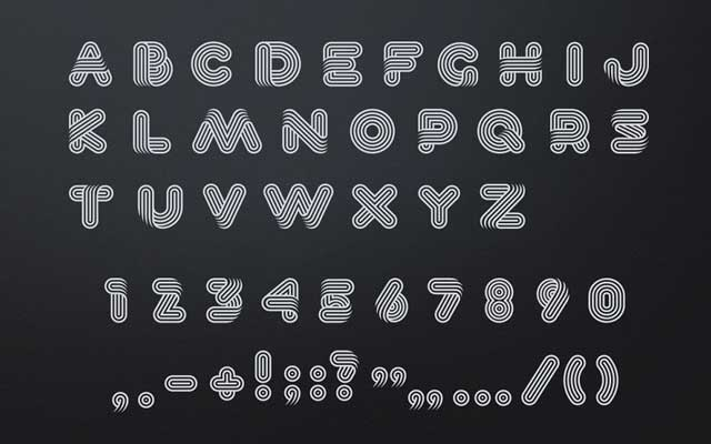 Lineat font