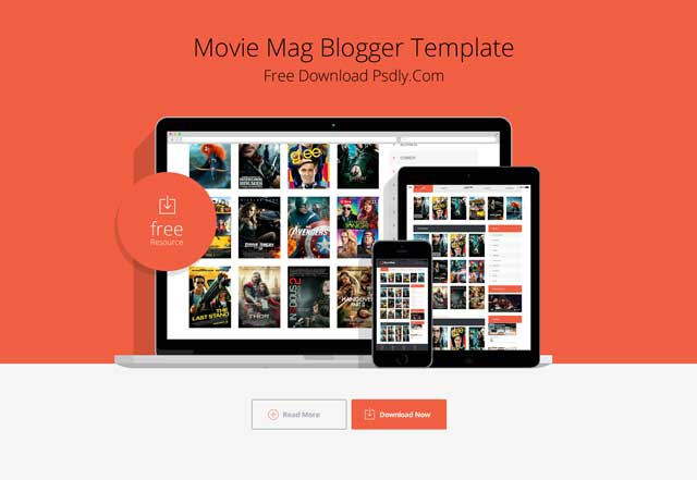Moviemag Blogger Template