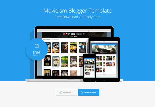Movieism Responsive Blogger Template