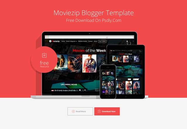 Moviezip Responsive Blogger Theme