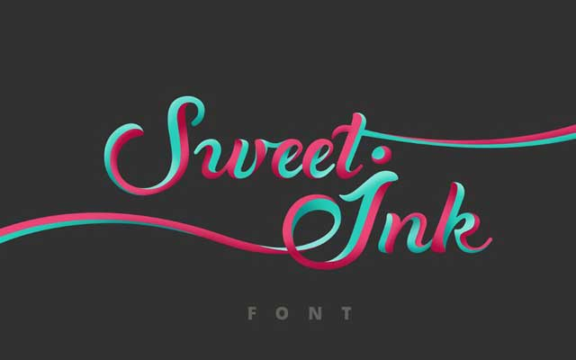 Sweet ink Calligraphy Font
