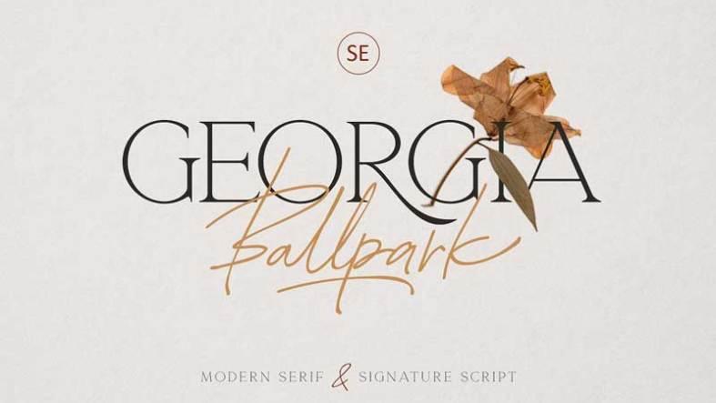 Creativemarket Georgia Ballpark Font Duo Free Download