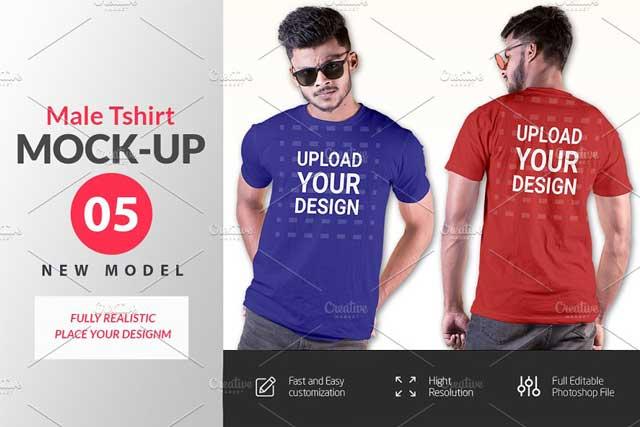 Male t-shirt Mockup-V-2-002