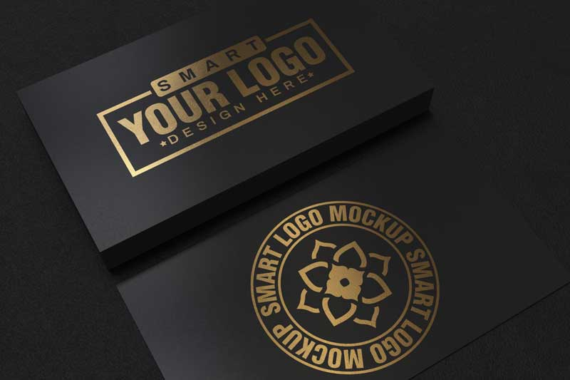 Black and Gold Business Card Mockup