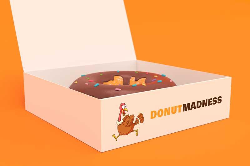 Donut Box Logo Mockup